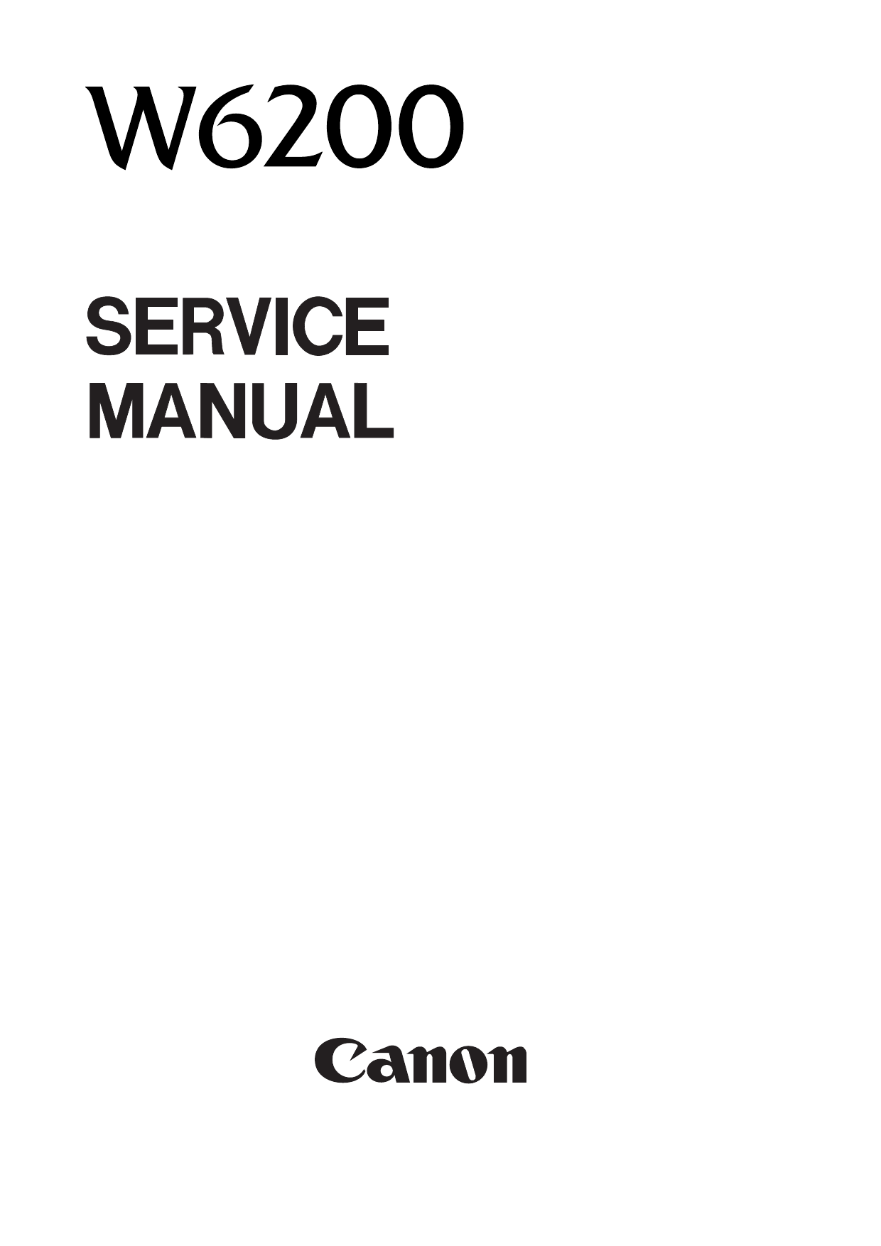 Canon Wide-Format-BubbleJet BJ-W6200 Parts and Service Manual-1